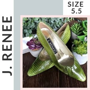 🌟 EUC 🌟 J. Renee Snakeskin Pumps (sz 5.5)